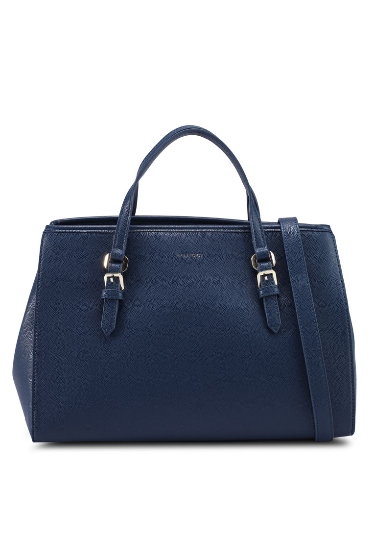 Satchel Bag - Navy - VINCCI
