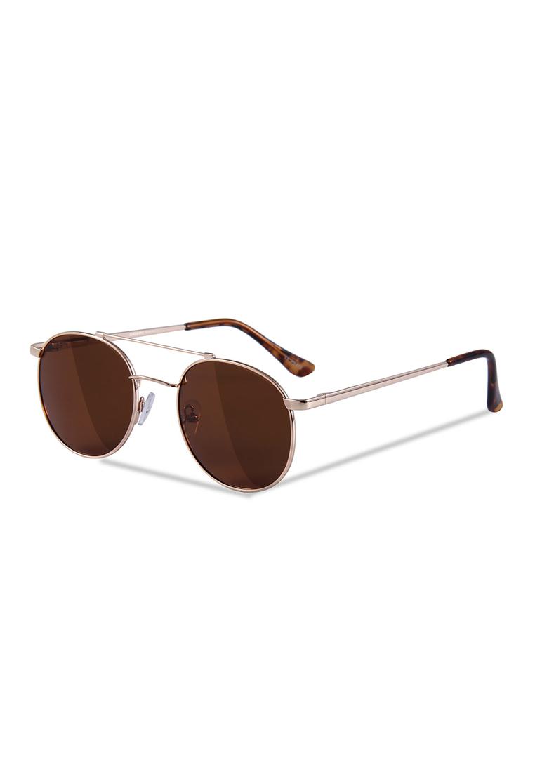 Sensolatino Series Paro Gold Frame With Brown Polarized Lenses - black, blue, red - Sensolatino Eyewear - Women