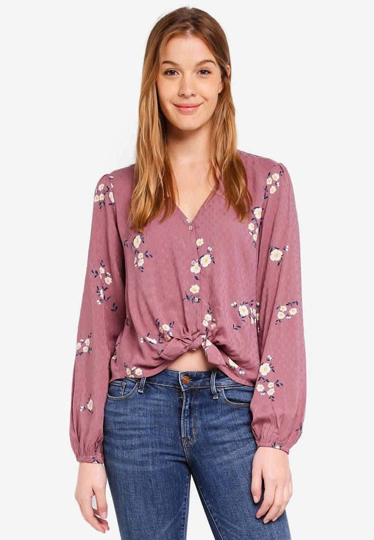 7fad001a03 Lipsy Lace Tie Sleeve Dobby Blouse