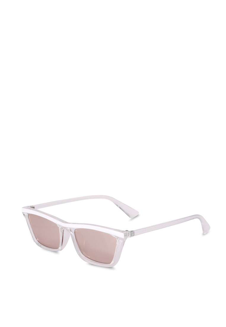 Tommi Low Profile Sunglasses - Crystal White - Rubi