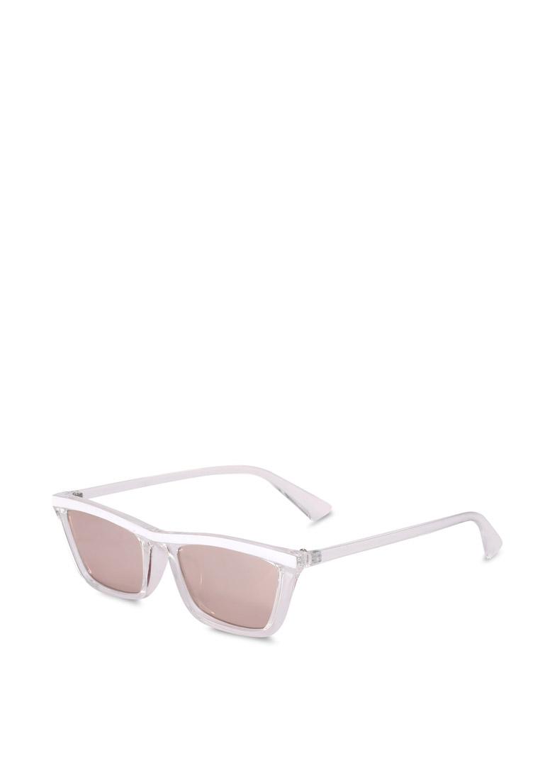 Tommi Low Profile Sunglasses - Crystal White - Rubi