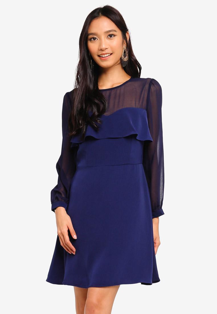 Jersey One Shoulder Purple Prom Dress 5442