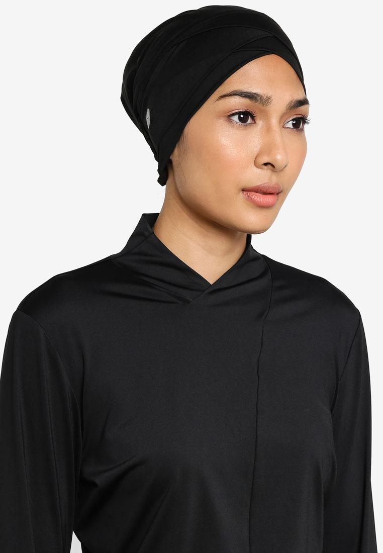 Active dry performance turban - Black - Zalia