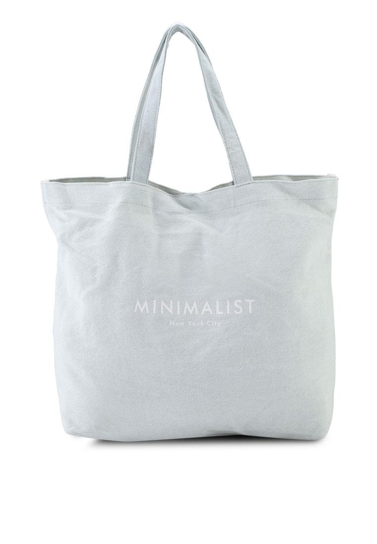 Minimalist Washed Tote Bag - Light Blue Denim - Rubi