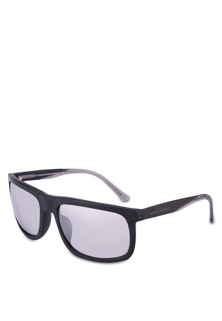 Acetate AX4084SF Sunglasses - Matte Black - Armani Exchange