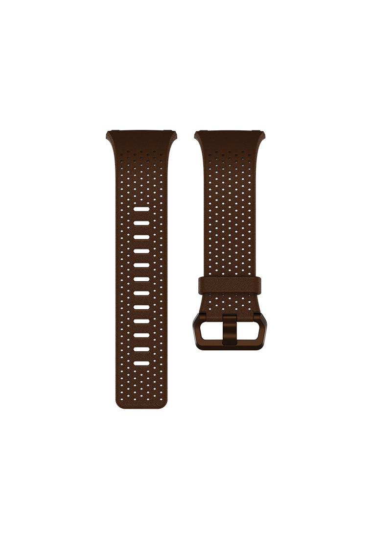 Fitbit Ionic Original Leather Accessories Band (Dark Brown) - Women