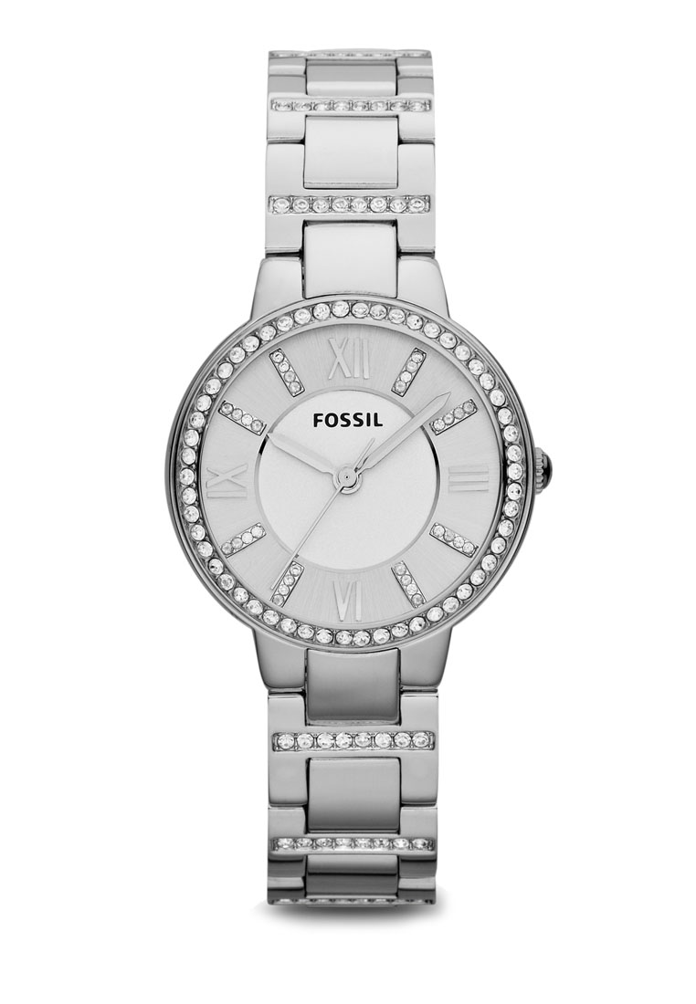 Womens Fossil Watches Timepieces Malaysia On Sale Shoppr Es3707 Jacqueline Gray Leather Watch Rose Gold
